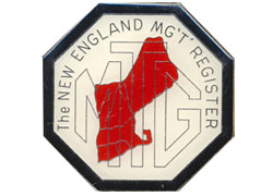 embossed mg logo